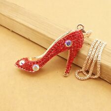 Wholesale Red high heels Pendant chain charm Long necklace XL570