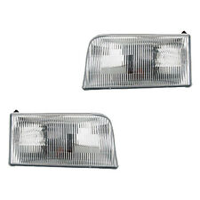 Fits Ford Bronco F-series Driver + Passenger Side Headlight Lamp Assembly 1 Pair