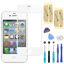 White Front Screen Glass Lens Replacement for Apple iPhone 4/4S Repair Tools Kit