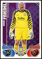 Brad Friedel #19 Topps Match Attax 2010-11 Aston Villa Fútbol Tarjeta (C602)