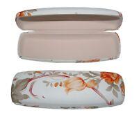 Brillenetui Brillenbox Brillentasche Blumendekor Hartschale (0081)