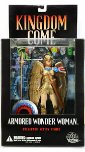 DC Direct Kingdom Come Armored Wonder Woman Shield Spear Alex Ross Figure Sealed
