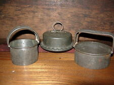 Antique Lot of 2 Biscuit Cookie Cutters Pries - 1 Tart King Primitive Tin