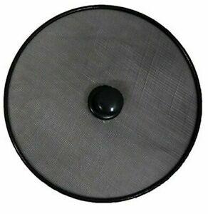 2 x Quality Frying Pan Splatter Screen Guard Frying Round Black Mesh Cover 28cm