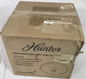 Hunter 80200a Boswell Decorative Bathroom Ventilation Fan w Light Swirled Marble