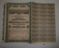 1 Aktie à 50 Peso Banco el Hogar Argentino Buenos Aires 1. Oktober 1924 (127005)