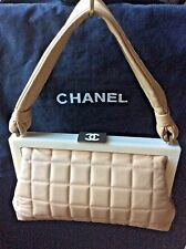 100% Authentic Chanel Beige ''Chocolate Bar'' Bag