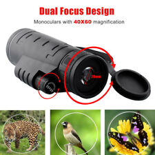 Portable 40X60 Focus Zoom HD Optics Lens Hiking Monocular Telescope Spotting New
