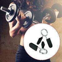 2 STÜCKE Hantelstangenklemmen Clips Hantelstange Kragen Gewicht Nett Feders