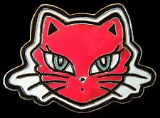PUSSY CATS KITTY KITTEN FELINE RED BELT BUCKLE BOUCLE DE CEINTURE