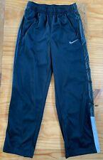 Nike Boy's Size M Black White Athletic Track Pants Euc