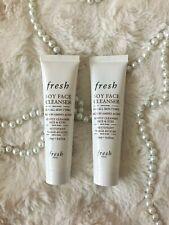 (2) NEW Fresh Soy Face Cleanser Mini Travel Size 0.6 fl oz/ 20 mL