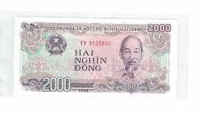 """VIETNAM 2.000 DONG 1988 PICK# 107a Uncirculated. Prefix """" EB """" (#1015)"""