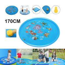 170cm Outdoor Kids Splash Sprinkler Water Play Pad Mat Inflatable Spray Pool Toy