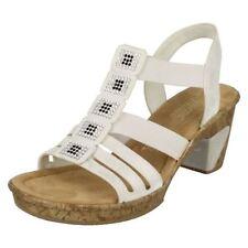 Sandali e scarpe bianche Rieker per il mare da donna