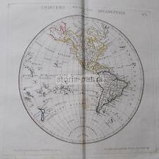 RARA CARTOGRAFIA_MAPPAMONDO_AMERICA_ASIA_EUROPA_AFRICA_OCEANIA_DUE ANTICHE MAPPE