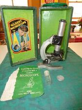 Vintage Gilbert Microscope with Original Green Case S-15