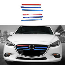 6pcs Chrome Front Grille Trim Cover Molding fit For MAZDA3 AXELA m3 2017-2018