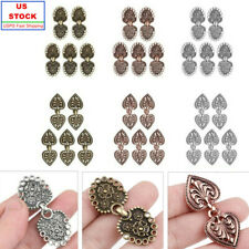 1 Pair Shell Design Crystal Closure Hook and Eye Clasp Sweater Cloak Decor