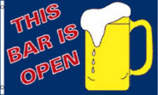 THIS BAR IS OPEN FLAG 5' x 3' Beer Festival Pub Party Celebration