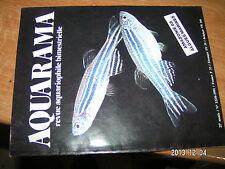 Aquarama n°122 Decor perso Trogonophis Aquarium marin hollandais  Ampullaire
