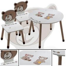 Kindertisch & 2x Kinderstühle TED+LILY braun weiß Schreibtisch Tisch Sitzgruppe