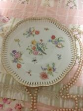 Shabby Chic VINTAGE PEACOCK HAND PAINTED PLATE WALL DECOR