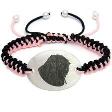 Puli Dog Mother Of Pearl Natural Shell Adjustable Knot Bracelet Bs131