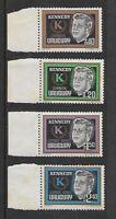 1965 - Uruguay John F Kennedy Set of 4 Stamps MNH #SG1249/52