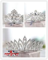 Wedding Princess Bridal Prom Headband Crystal Rhinestone Veil Tiara Crown TA
