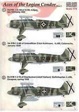 Print Scale Decals 1/72 ACES OF THE LEGION CONDOR Part 1 Heinkel He-51 Fighter