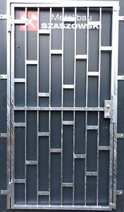 Gittertür Feuerverzinkt Einbruchschutz auf Maß - Modell Platten