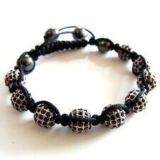 Armband Power Beads Shamballa Kugeln rot schwarz Damenarmband Herrenarmband