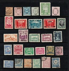 Turkey stamps, small collection of 28 classics, SCV $68