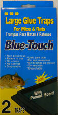 3 Pack -Large mouse traps glue sticky insect control rodent pest peanut scent(6)