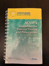 ACSM's Guidelines for Exercise Testing and Prescription 8th Ed 10: 0-7817-6903-5
