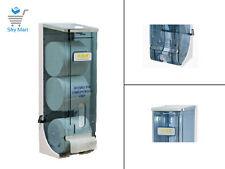 ABC Toilet Paper Dispenser Triple ROLL Coreless POLYCARBONATE Lockable