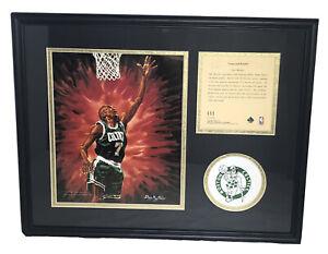 Dee Brown Boston Celtics 1995 Framed & Matted NBA Lithograph Art Print Photo