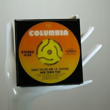 James Taylor/JD Souther -  Drink Coaster Made with The Original 45 rpm Record