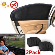 2x Car Kids Sun Shade Shield Socks Rear Side Window Large Square Cover UV Mesh