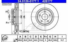 2.0 dCi 2.5 16 V Avant 2 Disques De Frein /& Plaquettes Set 2007-2015 Nissan X-Trail NEUF *