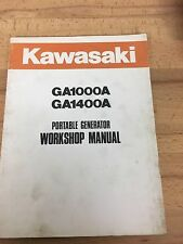 KAWASAKI GA1000A / GA1400A  PORTABLE GENERATOR SERVICE MANUAL