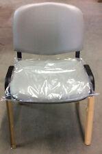 Sedia fissa da ufficio in finta pelle bianca offerta acquisto minimo 10 pezzi