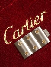 Authentic Cartier Santos Galbee Watch 3 Links SET 18K Yellow Gold STAINLESS 12mm