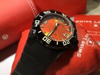 Swiss Legend Men's 10008-BB-06-OB Expedition Orange Dial Black Silicone Watch