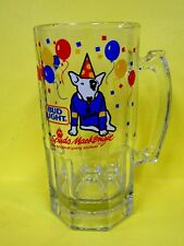 Vintage 1987 Bud Light Spuds MacKenzie HUGE 1qt Size Glass Mug w/Balloons*GREAT