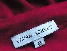 LAURA ASHLEY StretchRedFauxSarongSmartShortSz8EUC