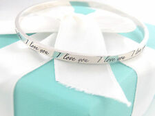 Tiffany & Co Silver I Love You Notes Bracelet Bangle Box Included