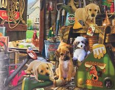 Buffalo Games Dog Days 750 Piece Puzzle Puppy Work Shed Steve Read Dogs Poster