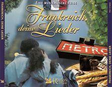 FRANKREICH, DEINE LIEDER - EINE MUSIKALISCHE REISE / 4 CD-SET - TOP-ZUSTAND